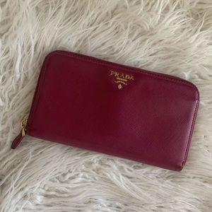 Prada Large Zippy Wallet